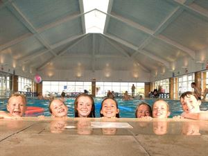 The indoor pool is just one of many attractions at this family holiday park