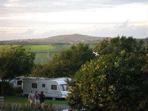 Pitches are set in secluded areas with hill views