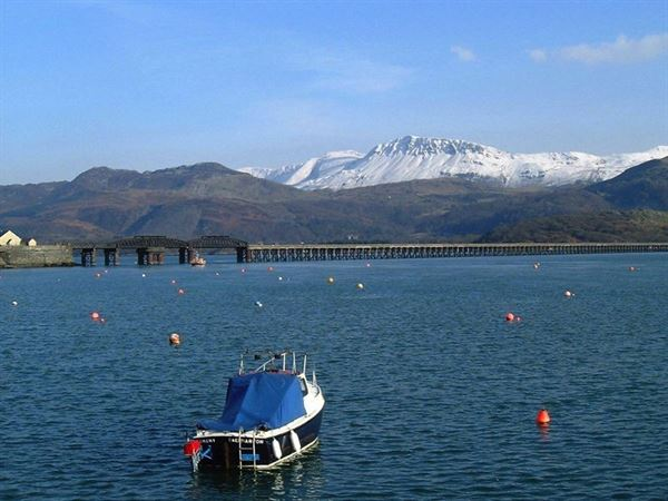Barmouth harbour is just a short walk from the campsite