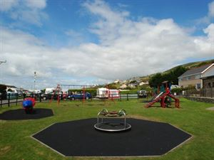 Outdoor children's play area has been recently refreshed