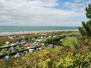 The beach and sea are just a few hundred yards from the campsite through a gate