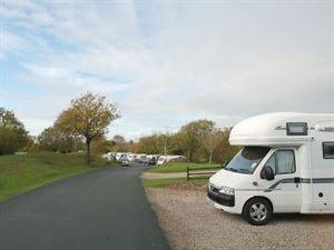 Motorhome pitches are large even for tag-axles