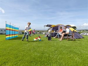Tent campers have lots of choice of grassed pitches