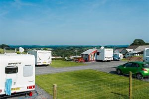 Caravan park has long views to the Gower