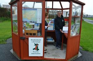 Cute tourist information kiosk on site
