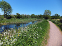 Minnow Touring Park canal cycle path