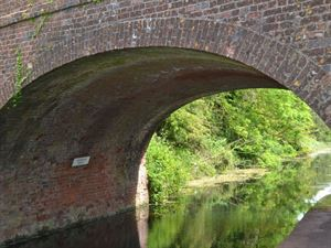 Old canal bridge is directly outside the campsite gate (don't forget the gate code!)