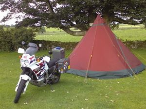 Motorbike camping - on site!