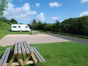 Large hardstanding pitches are available
