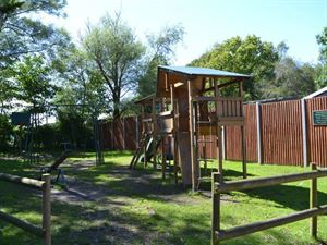 Outdoor play area is provided for the kids
