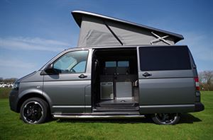 A grey T5 with rising roof