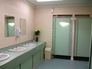 Shower blocks are immaculate inside