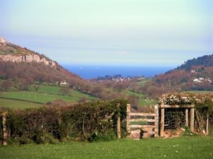Plas Farm is three miles from the coast and the views are picturesque