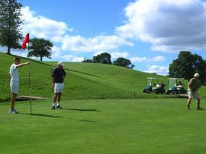The golf course can be accessed dirctly off the campsite making it popular with golfers (the nineteenth hole is also on-site, too!)