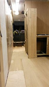 Plywood floor going down