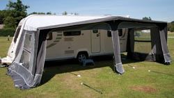 Caravan awning size guide.