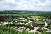Rivendale campsite is set in a former limestone quarry