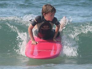 The surf school is fun for all ages