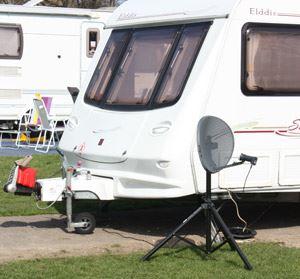 Caravan television satellite accessories