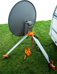 Satellite dishes are great options for caravan internet use