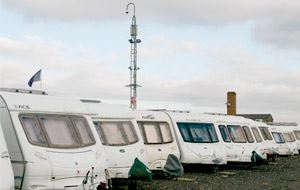 Caravan security in a compound