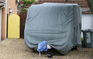 Caravan security at home