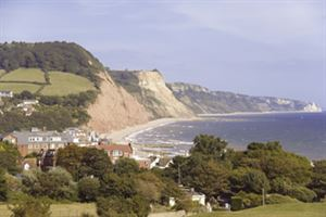 Looking across to Sidmouth beach
