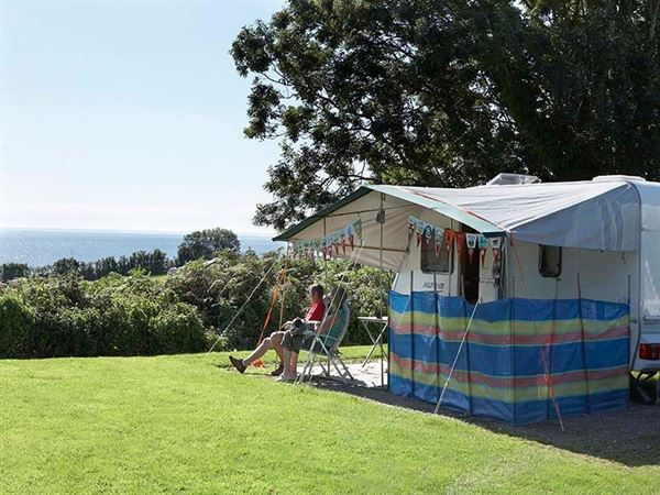 Relax on pitch with some great sea views