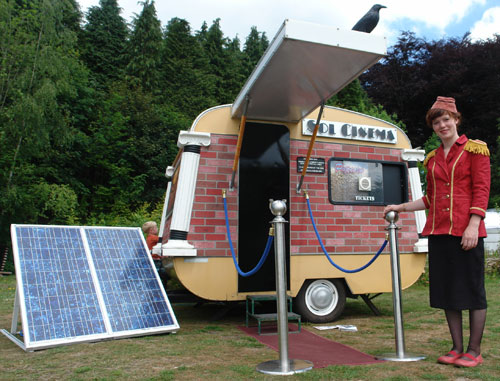 Sol Cinema solar powered caravan