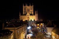 The historic setting of Lincoln's Christmas Market