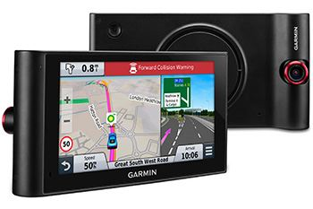 The new Garmin has an integrated dash-cam