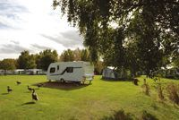 The pitches at Yarwell have plenty of space around them