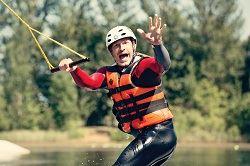 Wakeboarding fun at Tattershall Lakes, Lincolnshire