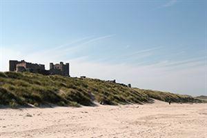 Castles dominate the Northumberland coastline