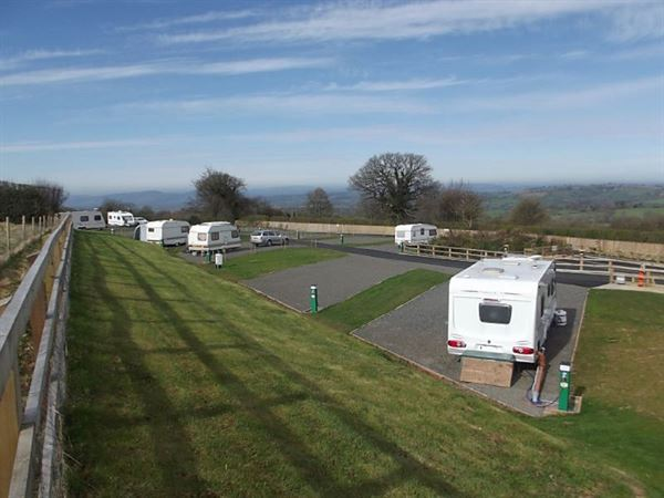 Wheathill Touring Park has views of the surrounding Shropshire countryside