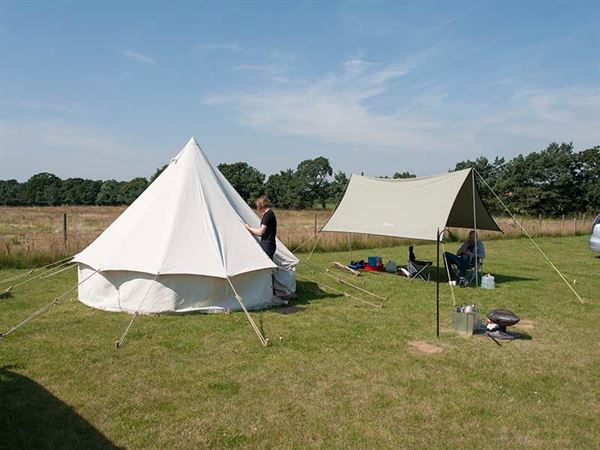 Enjoy glamping on site