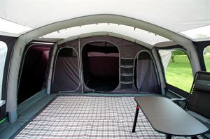 The interior of the Outdoor Revolution Kalahari tent