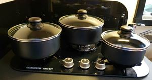 Isabella stackable pot and frying pan set