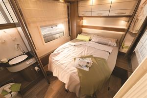 Island bed motorhome layout
