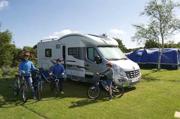 A towbar-mounted bike rack allows you to carry three or even four bikes on your motorhome - © Warners Group Publications 2019