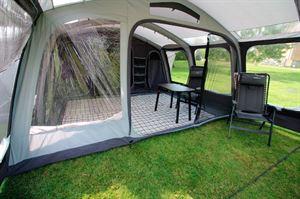 The living area in the Outdoor Revolution Kalahari tent