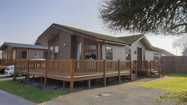 A lodge at Grange Country Park, near Colchester
