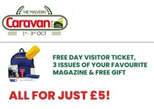 Join us at the The Malvern Caravan Show and make the most of our fantastic subscription deal!