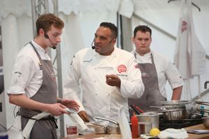 Michael Caines at the festival