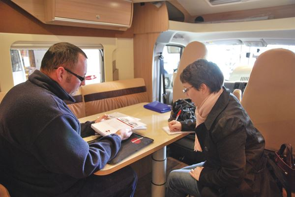 Collecting your motorhome is an important process