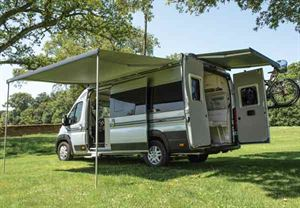 Many hire campervans come equipped with bike racks and awnings