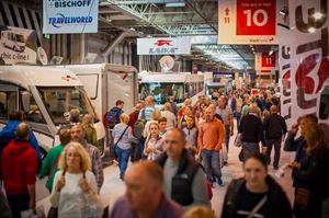 A record number of people attended the first day of the NEC motorhome show