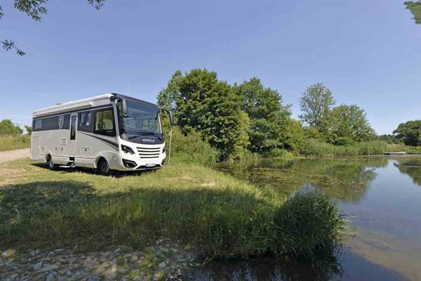 Parking up in scenic surrounds is what motorhome holidays are all about - picture ©Warners Group Publications