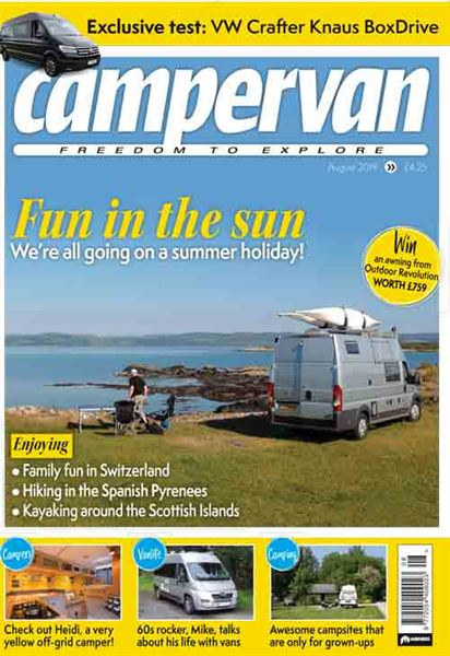 Fun in the Sun - the August 2019 issue of Campervan magazine