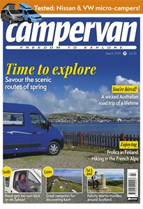 Out now - the March 2019 issue of Campervan